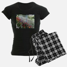 Tulips Garden Along White Pi Pajamas