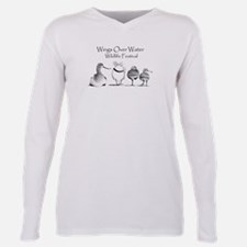 Cute Wildlife conservation Plus Size Long Sleeve Tee
