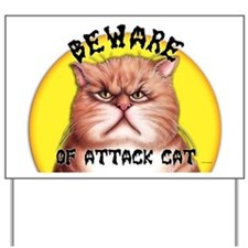 Attack Cat Yard Sign