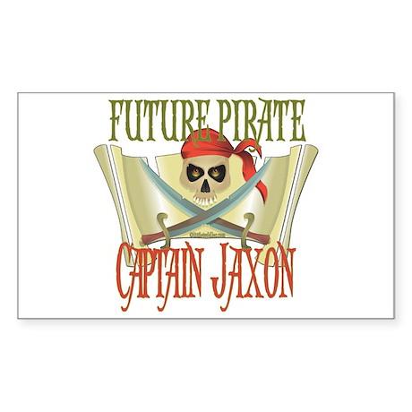 Captain Jaxon Rectangle Sticker