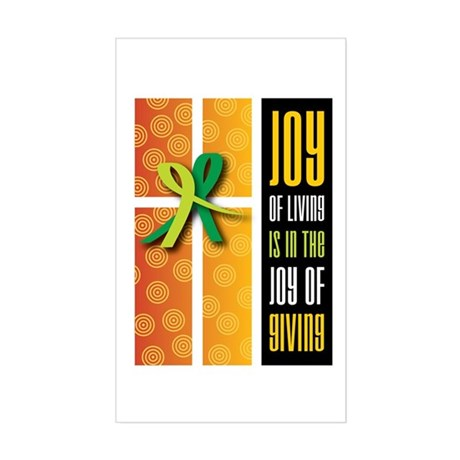 Joy of Giving Collection Rectangle Sticker