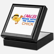 Cancer Messed With The Wrong Chick Keepsake Box