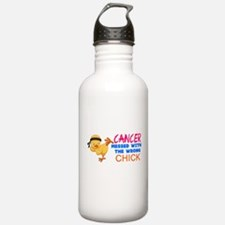 Cancer Messed With The Wrong Chick Water Bottle
