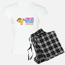 Cancer Messed With The Wrong Chick Pajamas