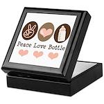 Peace Love Bottle Keepsake Box