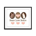 Peace Love Bottle Framed Panel Print