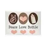 Peace Love Bottle Rectangle Magnet
