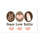 Peace Love Bottle Postcards (Package of 8)