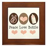 Peace Love Bottle Framed Tile