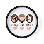 Peace Love Bottle Wall Clock