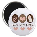 Peace Love Bottle Magnet