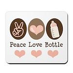 Peace Love Bottle Mousepad