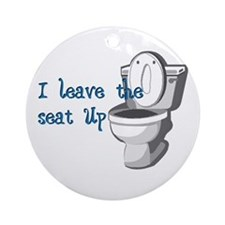 Seat Up Ornament (Round)