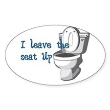 Seat Up Oval Decal