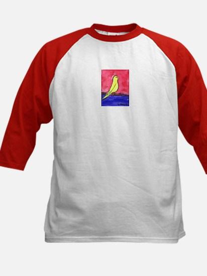 """""""Yellow Parakeet"""" Kids Baseball Jersey"""