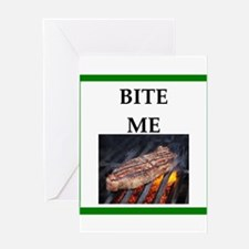 steak Greeting Cards