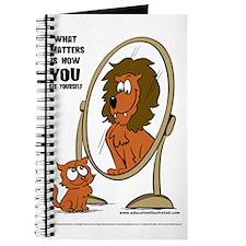 Kitten Lion Mirror Journal