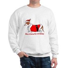 Red Piebald Santa Sweatshirt