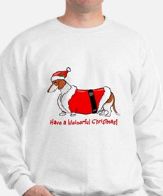 Red Piebald Santa Sweatshirt