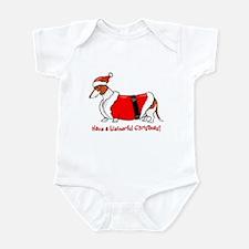Red Piebald Santa Infant Bodysuit