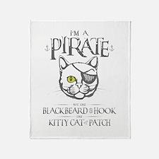 Pirate Kitty Throw Blanket