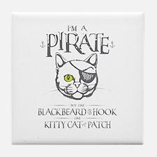 Pirate Kitty Tile Coaster