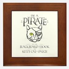 Pirate Kitty Framed Tile
