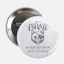 "Pirate Kitty 2.25"" Button"