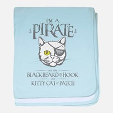 Pirate Kitty baby blanket