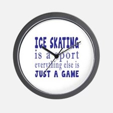 Ice Skating is a sport Wall Clock