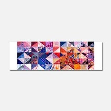 Country Patchwork Quilt Car Magnet 10 x 3