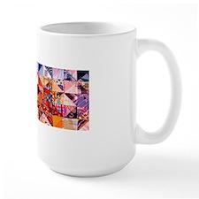 Country Patchwork Quilt Ceramic Mugs