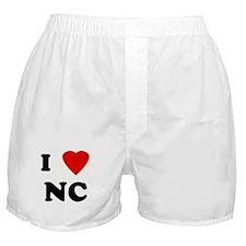 I Love NC Boxer Shorts