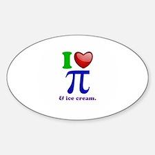 I Heart Pi Decal