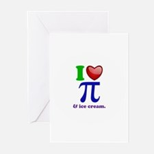 I Heart Pi Greeting Cards