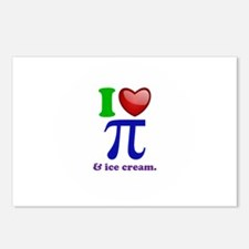 I Heart Pi Postcards (Package of 8)