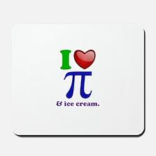 I Heart Pi Mousepad