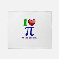 I Heart Pi Throw Blanket