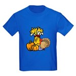Thanksgiving Harvest Kids Dark T-Shirt
