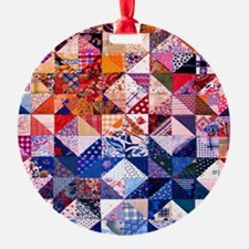 Country Patchwork Quilt Ornament