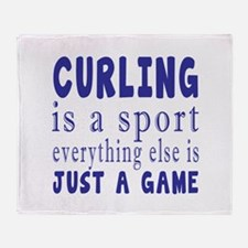 Curling is a sport Throw Blanket