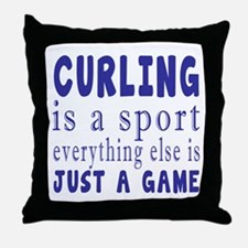 Curling is a sport Throw Pillow