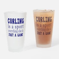 Curling is a sport Drinking Glass