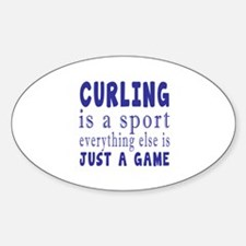 Curling is a sport Decal