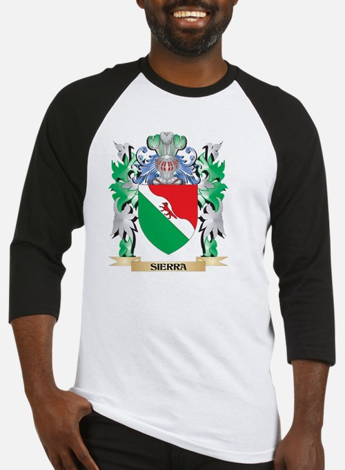 Sierra Coat of Arms - Family Crest Baseball Jersey
