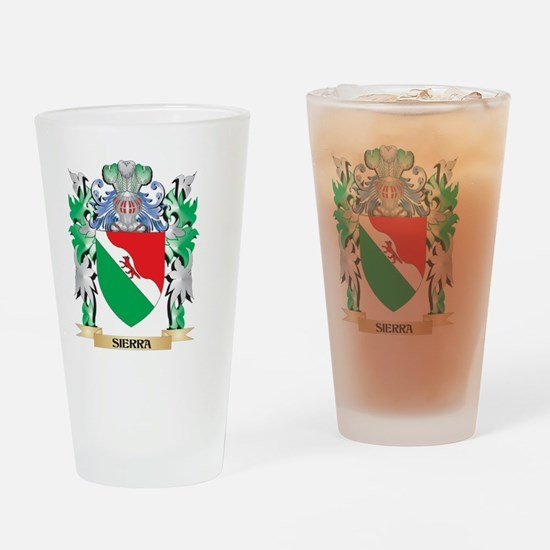 Sierra Coat of Arms - Family Crest Drinking Glass