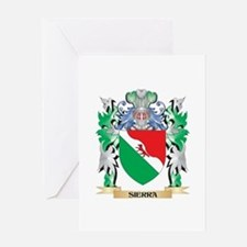 Sierra Coat of Arms - Family Crest Greeting Cards