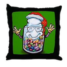 Cute Bean counter Throw Pillow