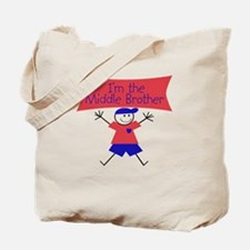 I'm The Middle Brother Stick Tote Bag