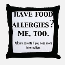 Peanut allergies Throw Pillow